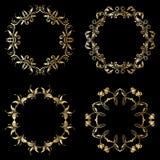 Vector gouden ornamenten Stock Foto's