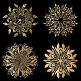 Vector gouden ornamenten Stock Fotografie