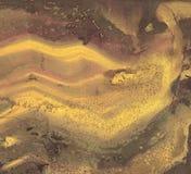 Vector Gouden Oude Gekraste Oppervlakte Als achtergrond Stock Afbeeldingen