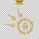 Vector gouden pictogram Stock Afbeelding