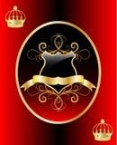 Vector gouden schild Royalty-vrije Stock Fotografie