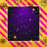 Vector gouden textuurachtergrond met sneeuwvlok Realistisch leeg ontwerp voor Kerstkaart Royalty-vrije Stock Foto's