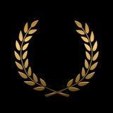 Vector gouden toekenningslauwerkrans royalty-vrije illustratie