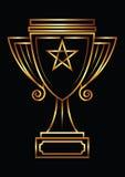 Vector gouden trofee stock illustratie