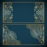 Vector gouden uitstekende frames Royalty-vrije Stock Fotografie