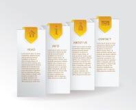 Vector gouden vooruitgangskaart met gouden linttekens en eenvoudig Web Royalty-vrije Stock Afbeeldingen