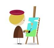 Artista del niño Ilustración del Vector