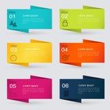 Vector gráficos coloridos da informação para suas apresentações do negócio Imagem de Stock