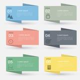 Vector gráficos coloridos da informação para suas apresentações do negócio Foto de Stock Royalty Free