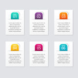 Vector gráficos coloridos da informação para suas apresentações do negócio Foto de Stock