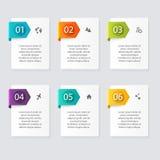 Vector gráficos coloridos da informação para suas apresentações do negócio Imagens de Stock