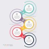 Vector gráficos coloridos da informação para suas apresentações do negócio C Fotos de Stock Royalty Free
