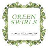 Vector grünen Rahmen der Weinlese mit Platz für Text Lizenzfreie Stockbilder