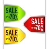 Vector grünes, rotes und gelbes Element Lizenzfreie Stockfotos