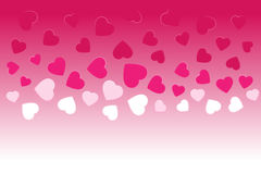 Vector gradient background with hearts Stock Photos