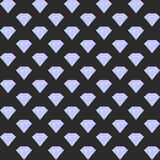 Vector gradient diamond seamless pattern on the dark background Royalty Free Stock Photos