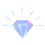 Vector gradient shining diamond logo on the white background Stock Photos