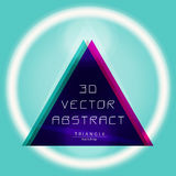 Vector gradient triangle poster with 3d effect. Stock Images