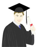 Vector Graduation Royalty Free Stock Photo