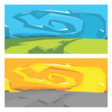 Vector graffiti landscape Royalty Free Stock Images