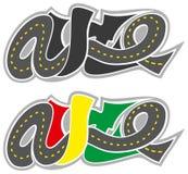 Vector graffiti road auto logo Royalty Free Stock Photos