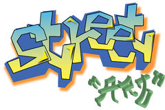 Vector Graffiti street art Royalty Free Stock Photography