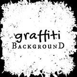 Vector graffiti wall background. Fashion texture, street art retro style, abstract, vintage design black and white Stock Photography