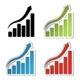 Vector grafiekstickers Royalty-vrije Stock Afbeeldingen
