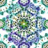 Vector grafisch, artistiek, romantisch beeld van naadloos patroon wat stock illustratie
