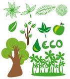 De symbolen van Eco Stock Illustratie