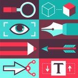 Vector grafisch ontwerpconcept Stock Afbeeldingen