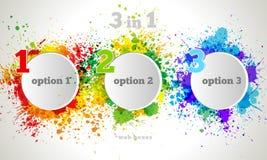 Vector Grafisch Ontwerpknoop en Etikettenmalplaatje.  Stock Foto