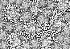 Grafische bloemenachtergrond Vector Illustratie