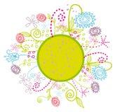 De bloemen van het beeldverhaal omcirkelen tuin Royalty-vrije Illustratie