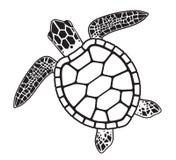 Vector grafische illustratie van een Zeeschildpad royalty-vrije illustratie