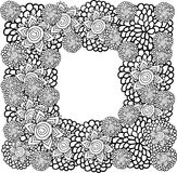 Het kader van de bloem Vector Illustratie