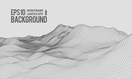 vector granangular EPS10 del terreno de 3D Wireframe Fotos de archivo libres de regalías