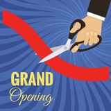 Vector grand opening card Stock Image