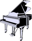 Vector grand piano Royalty Free Stock Photos