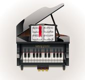 Vector grand piano XXL icon Royalty Free Stock Photos