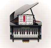 Vector grand piano XXL icon Royalty Free Stock Photos