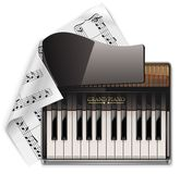 Vector grand piano XXL icon Stock Photo