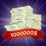 Vector grande del fondo del ganador Monedas de oro Lucky Jackpot Illustration Bandera grande del triunfo Para el casino en línea, Imágenes de archivo libres de regalías