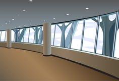 Vector grande del interior de la ventana ilustración del vector