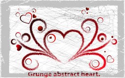 Vector grange heart. Vector illustration. Abstract background Stock Image