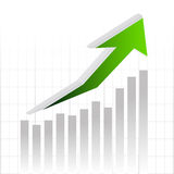 Vector graph chart arrow for business strategy Royalty Free Stock Image