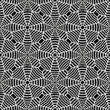 Vector graphic abstract geometry grid pattern. black and white web seamless geometric background. Subtle pillow and bed sheet design. unique art deco. hipster Stock Illustration