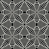 Vector graphic abstract geometry grid pattern. black and white web seamless geometric background. Subtle pillow and bed sheet design. unique art deco. hipster royalty free illustration