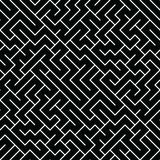 Vector graphic abstract geometry maze pattern. Black and white seamless geometric background . subtle pillow and bed sheet design. unique art deco. hipster royalty free illustration
