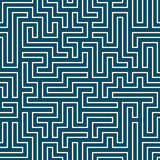 Vector graphic abstract geometry maze pattern. blue seamless geometric background Royalty Free Stock Image